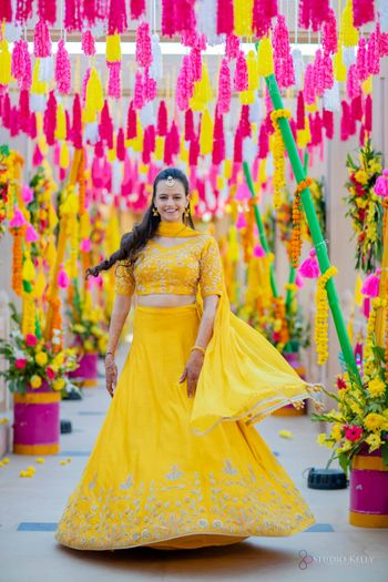 mango yellow sister of the bride outfit idea