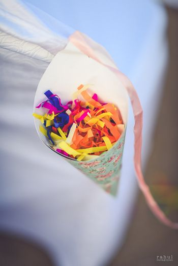 Photo of Confetti to throw on couple in cones
