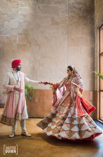 Photo of Offbeat bridal Anamika Khanna lehenga