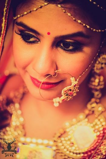 Gold and Pearls Nose Ring