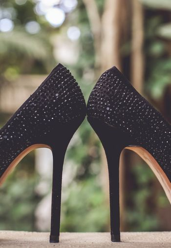 Black stilletoes studded