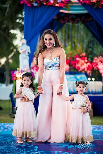 Photo of Adorable flower girls in matching outfits