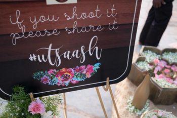Wedding hashtag board idea
