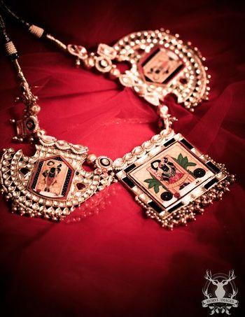 Photo of meenakari jewellery mughal necklace