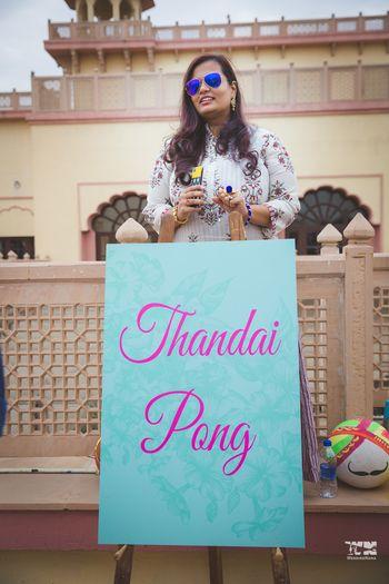 Photo of Unique wedding game thandai pong