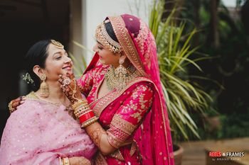 Photo of Cute bridal portrait with her mother