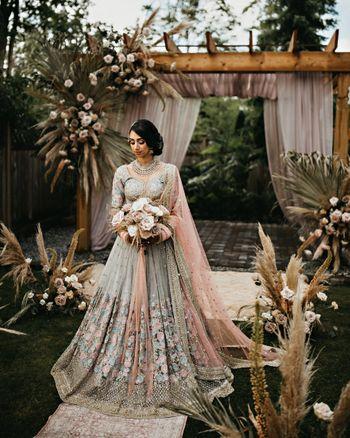 Gorgeous bridal portrait on her wedding day
