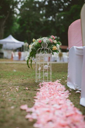 Birdcage floral prop