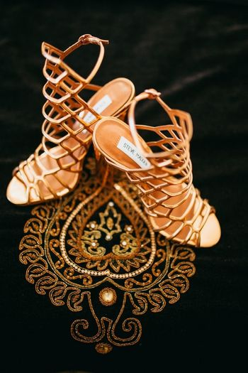 Gold Wedding Accessories Photo rose gold shoes