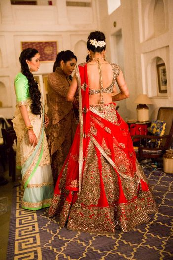 Photo of large flare lehenga