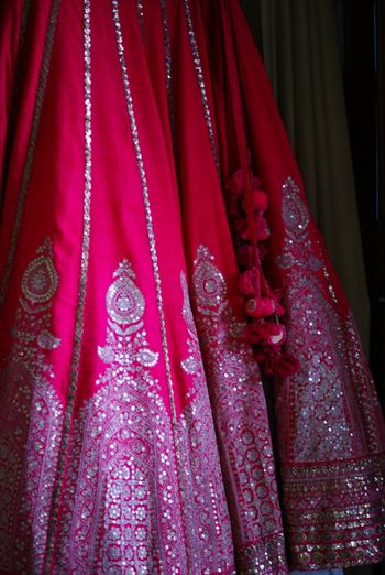 raspberry pink lehenga