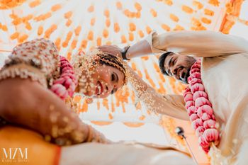 Photo of wedding ritual south indian couple shot