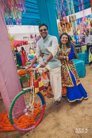 Funky bicycle prop for mehendi