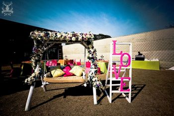 Photo of Mehendi swing with LOVE stand