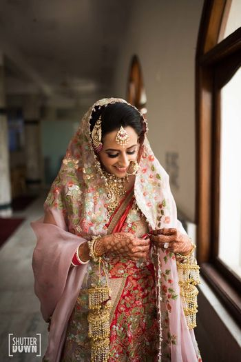 Photo of Heavy bridal dupatta and kaleere
