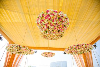Floral hanging decor chandeliers