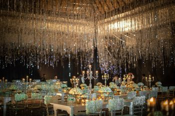 Unique tent ideas and glam gold decor