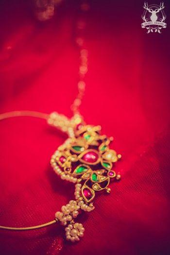 Photo of bridal nose ring