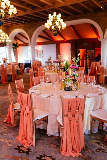 Peach Wedding Decor Photo peach decor for stage