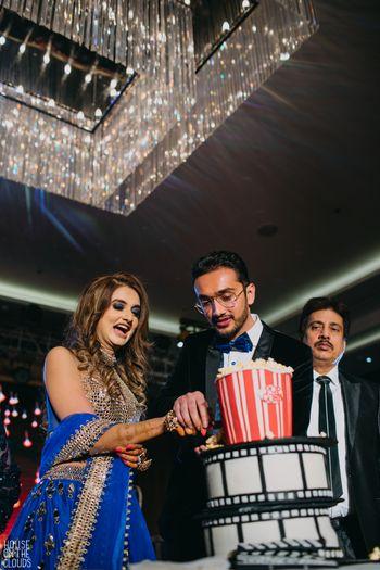 Bollywood theme sangeet cake