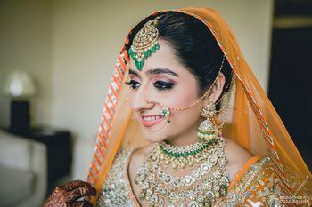 Orange Wedding Photoshoot & Poses Photo saffron