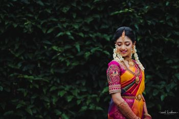 A pretty south Indian bridal portrait!