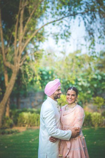 Photo of Celebrity wedding of actors Neha Dhupia and Angad Bedi