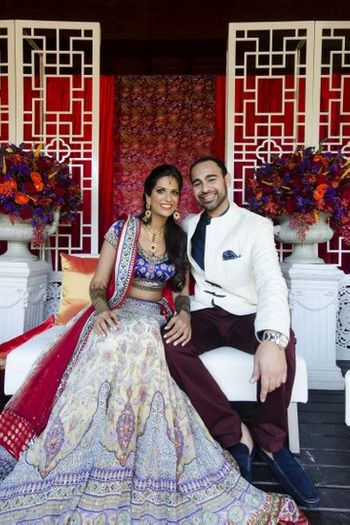 Tarun Tahiliani bridal lehenga for oriental theme mehendi