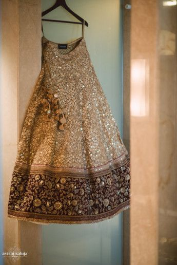 Photo of gold lehenga