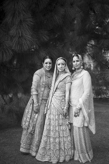Photo of black and white portraits