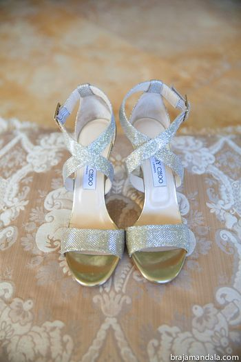 Photo of Gold jimmy choo bridal sandals