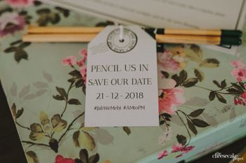 Save the date favour idea packaging