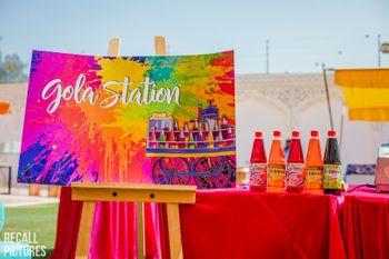 Summer mehendi idea with gola station