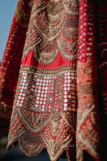 Details of a stunning Anamika Khanna bridal lehenga