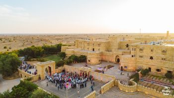 Photo of fort or palace wedding venue drone shot