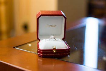 Cartier Solitaire Engagement Ring in Box