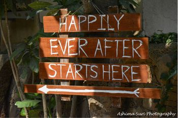 Photo of cute entrance boards