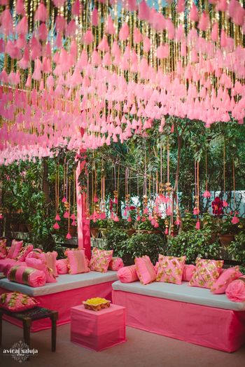 Photo of neon pink decor