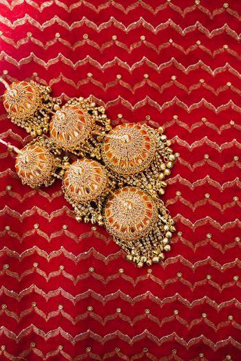Unique red bridal kaleere
