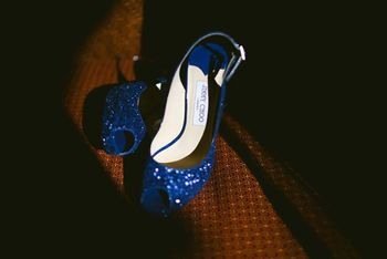 Photo of Blue jimmy choo shoes