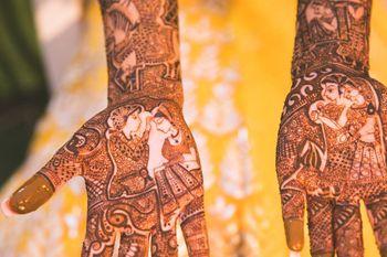bridal front hand mehendi design