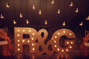Monograms in decor for engagement