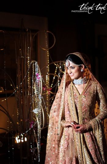 Photo of Peach sabyasachi  stunning jacket style leheng
