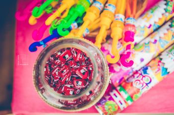Vintage candy as mehendi favours