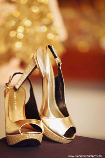 Photo of gold heels