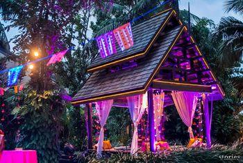 Photo of purple hut