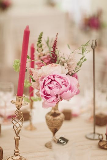 Photo of candle table setting