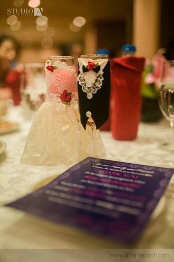 Photo of special glasses for bride and groom
