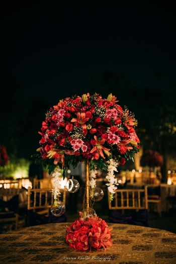Photo of Lavish centrepiece idea for winter wedding