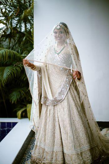 Chikankari bridal lehenga